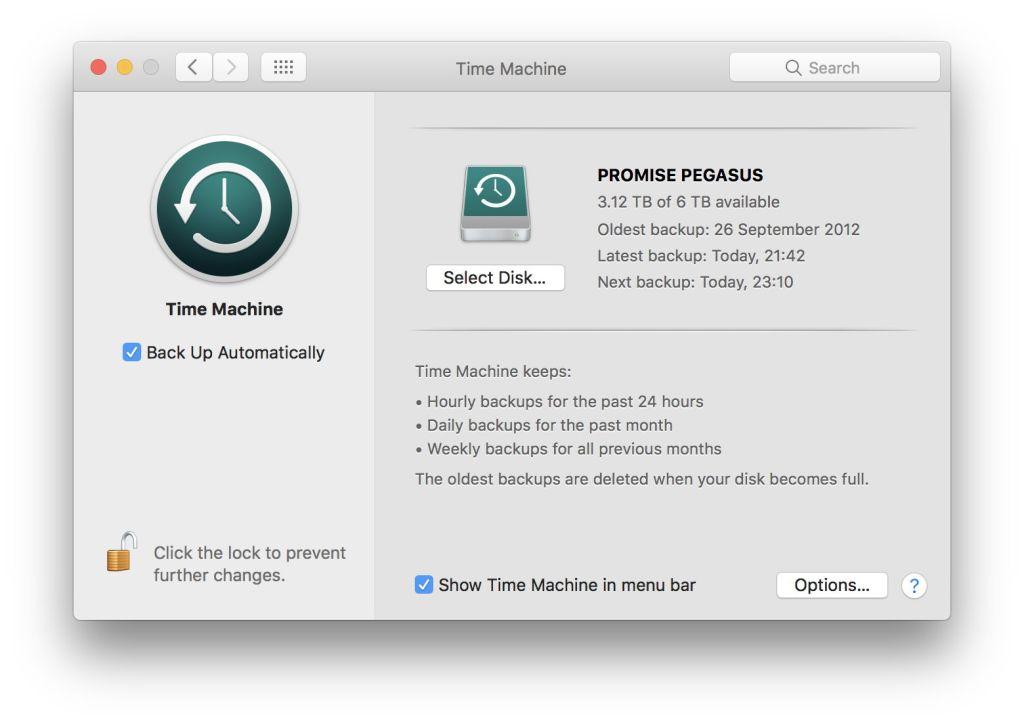 Risultati immagini per time machine mac