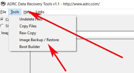 Strumenti Strumenti di recupero dati ADRC